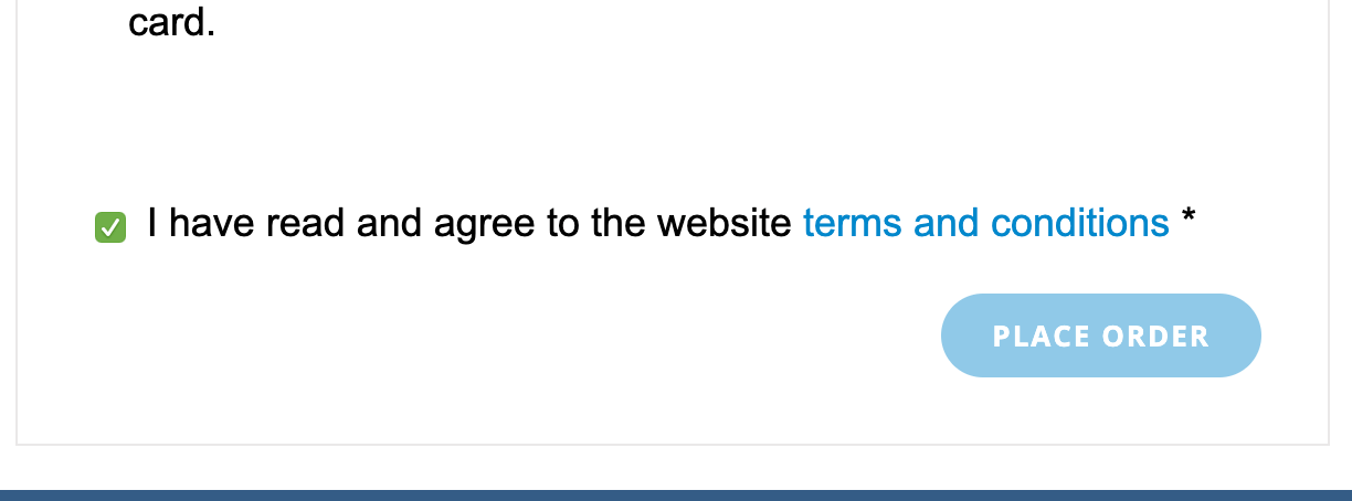 WooCommerce pre-check terms conditions